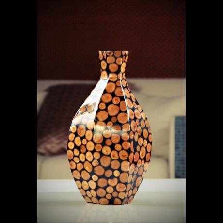 "Vase hexagone ""Rondins"""