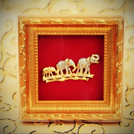 Cadre miniature Eléphants
