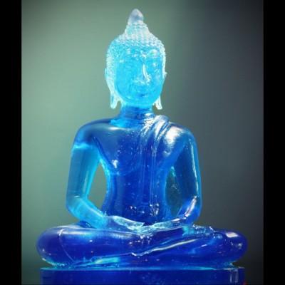 """Bouddha """"Dhyani-Mudra"""" Bleu ou Violet"""