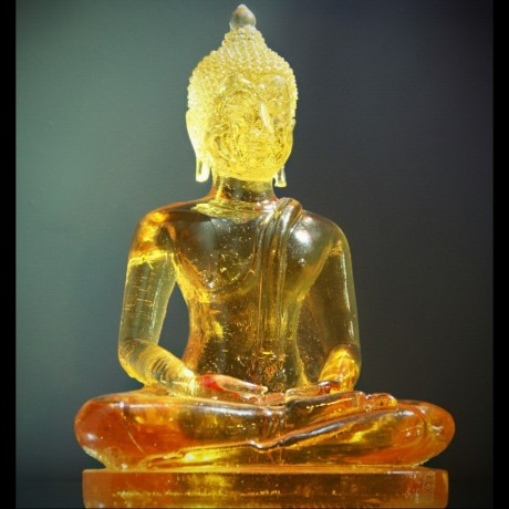 "Bouddha ""Dhyani-Mudra"" Jaune ou Blanc"