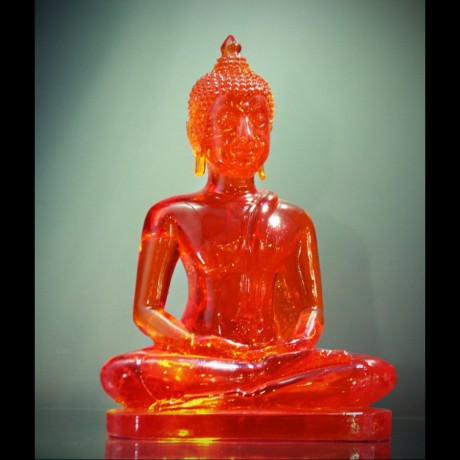"Bouddha ""Dhyani-Mudra"" Orange ou Vert"