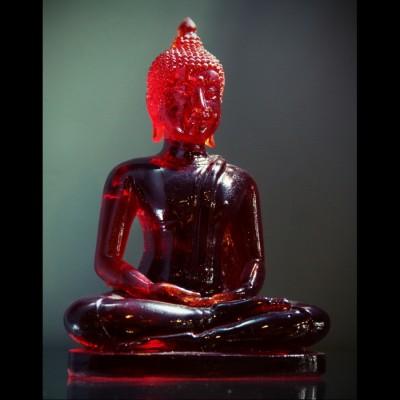 "Bouddha ""Dhyani-Mudra"" Rouge ou Rose"