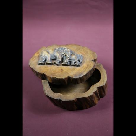 Boite elephant en manguier M