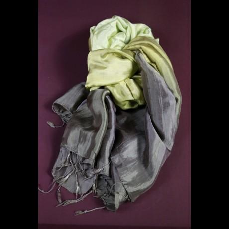 Foulard en soie vert emeraude