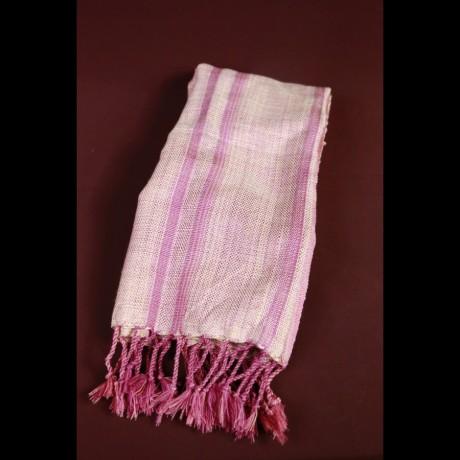 Foulard en soie rose fuschia