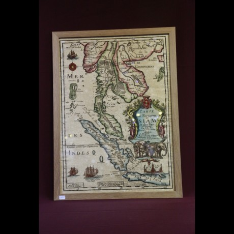 Ancienne carte de la Thaïlande